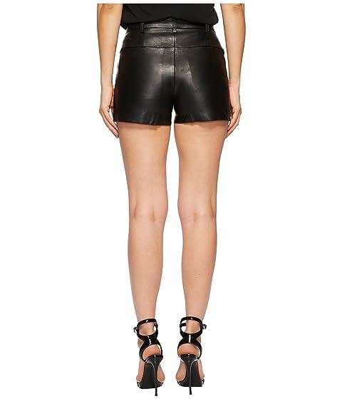 negro granate de Pantalones cortos cuero LAMARQUE w76qfgg