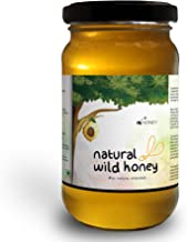 Hi Honey Raw Organic Wild Honey by Saurashtra Honey Bee Farm| an Ayurvedic Remedy for Weight Loss, Cough and Digestive Problems (530gm) - Glass Jar (Raw Forest Honey) (Pack of 1)