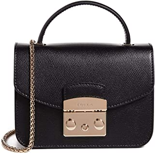 Furla Woman's Furla Metropolis Mini Black Leather Shoulder Bag Black