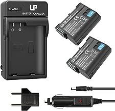 LP EN-EL15 EN EL15a Battery Charger Set, 2-Pack Battery & Charger, Compatible with Nikon D500, D610, D750, D810, D7000, D7100, D7200, D7500 & More