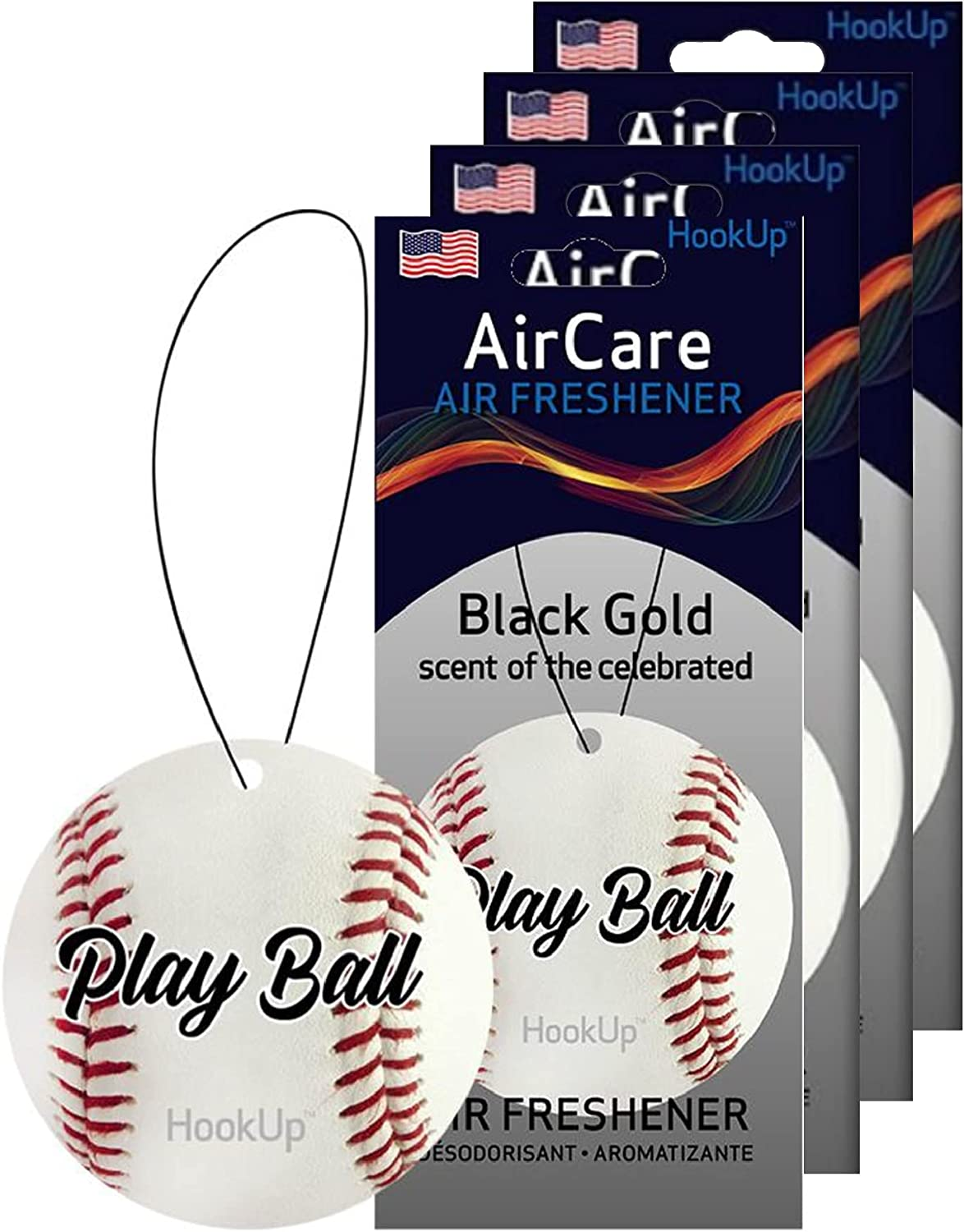 HookUp Car Over item handling Air Fresheners - 4 Hanging Regular discount Sports of Themed Pack