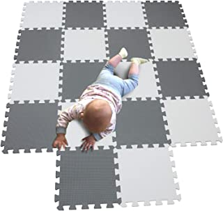 Sponsored Ad – MQIAOHAM Baby Puzzle mat Baby playmat Plastic mats for Floor Shape Square Play Gym Toys Jigsaw Board Foam T...