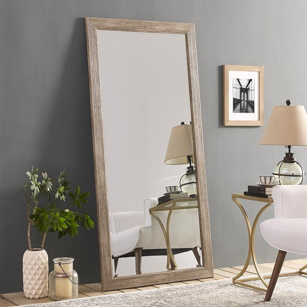 National uniform free shipping Ranking integrated 1st place Naomi Home Rustic Floor Mirror x Natural 66 32