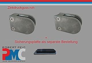 PMC raccordo piatto Pinza per vetro in acciaio inox V2A 1 8.00 mm