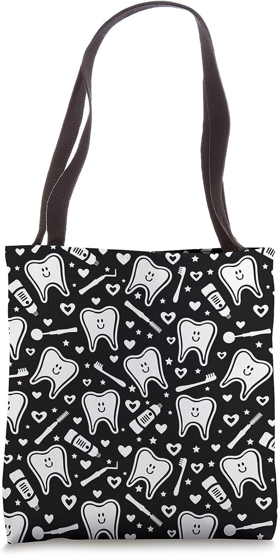 Cute dental tooth pattern Tote Bag