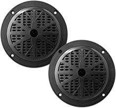 """Speaker Wire 5.25/"""" Dual Waterproof Marine Speakers Grill- Pyramid MDC6 100W 4Ohm Outdoor Car//Boat Radio Stereo Speakers Waterproof//Weather Proof Marine Stereo Speakers System Pair Mounting Kit"""