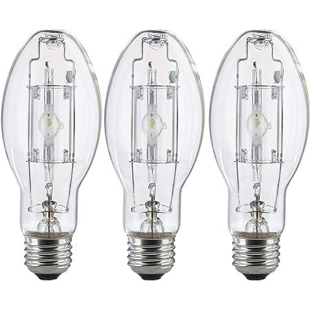 3 Pack MP100/U/MED 100 Watt Metal Halide ED17 Bulb, Medium Base, Clear Metal Halide Bulb 100W