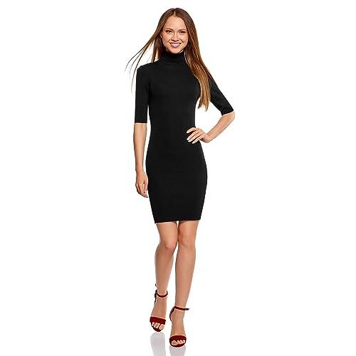 df823379cc oodji Ultra Mujer Vestido de Punto con Escote Gota en la Espalda
