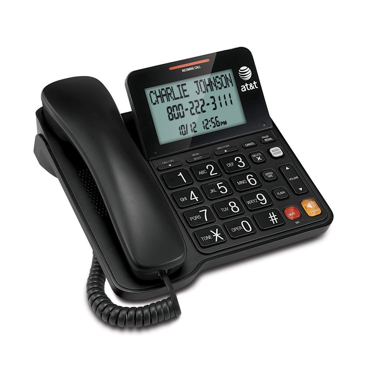 AT waiting Speakerphone Display Buttons