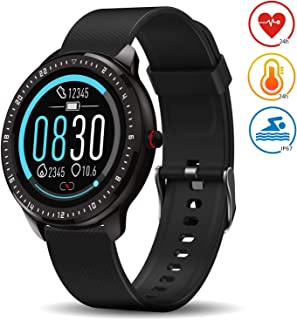 DoSmarter Smart Fitness Watch,  1.3 Touchscreen Waterproof Fitness Tracker with Heart Rate Blood Pressure Monitor,  Sleep Tracking,  Pedometer,  Calories Counter GPS Activity Tracker for Women Men Kids