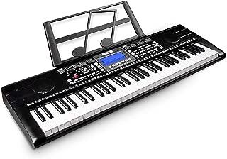Mugig MKB-8891 61-key Keyboard Piano, Portable Electric Keyboard Piano with Sheet Music Stand, 3 Intelligent Education Teaching Mode, Dual Power Supply