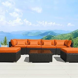 Fabulous Amazon Com Orange Patio Furniture Sets Download Free Architecture Designs Momecebritishbridgeorg