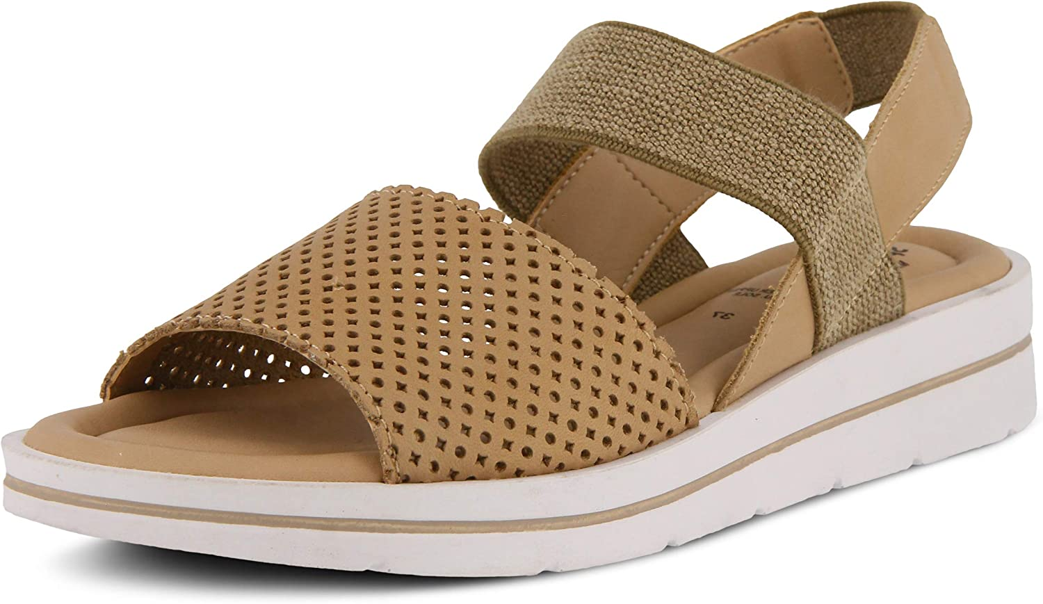 Spring Step Women's Travel Leather Ankle Strap Sandal
