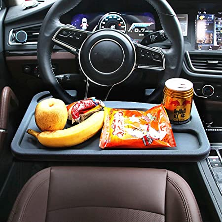 Dedc Steering Wheel Desk Car Table Organiser Laptop Tray Multifunction Car Drink Holder Dining Table Auto