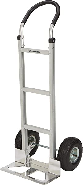 Strongway Aluminum Hand Truck With 10in Pneumatic Wheels