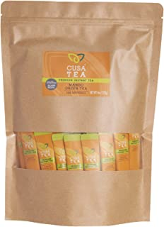 Cusa Tea: Mango Green Premium Instant Tea - Real Fruit and Spices - No Sugar or Artificial Flavors - Ready in Seconds - Ho...