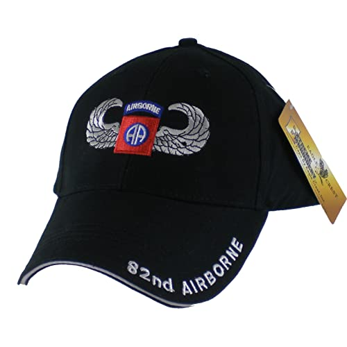 a1036bf57c3 US Army 82nd Airborne with Wings Embroidered Ball Cap