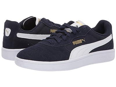 Puma Kids Astro Kick (Big Kid) (Peacoat/Puma White/Puma Team Gold) Boys Shoes
