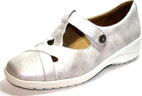 Solidus 42032 à Carreaux Chaussures Basses Pour Femmes, Ample K Blanc (écru)