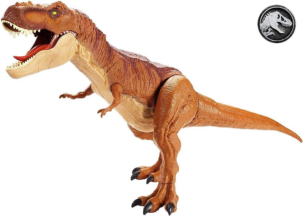 Mattel - jurassic world t-rex extra large dinosauro protagonista del film, FMM63