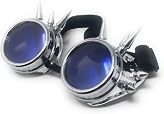 Ultra Steampunk Goggles Cyber Glasses Victorian Mens Womens Cosplay Goth Round