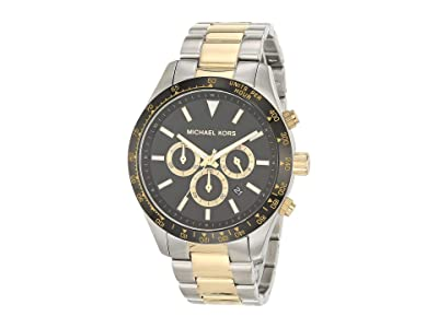 Michael Kors Layton Chronograph Stainless Steel Watch (Silver/Gold Tone) Watches