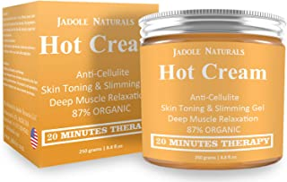 Jadole Naturals Body Naturals Hot Cream for Cellulite Reduction, Skin Toning and Slimming, Deep Muscle Relaxation, 8.8 Ounce