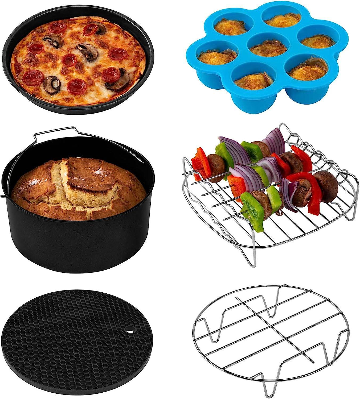 COSORI Accessories XL Industry No. 1 Sacramento Mall Set of 6 Fit 6Qt Fryer all 5.8Qt Air BPA