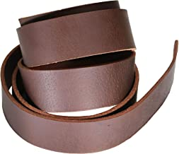 Veg Tan Tooling Cow Hide Leather Belt Strip Economy Leather Belt Blank 3 Wide 3-4 oz Thick 60-70 in Length Stonestreet Utility Grade Vegetable Tan Cowhide Leather Strap