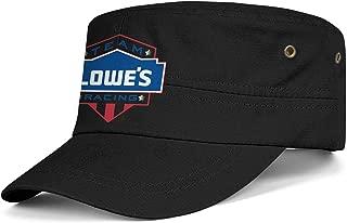 Men Womens Military Caps Lowe's-Racing-Logo- Adjustable Cadet Army Caps Baseball Hats Flat Top Cap