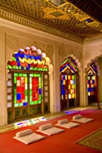 Posterazzi India Stained Glass Windows Palace Rajasthan Beautiful Temple for Royals Jodhpur at Fort Mehrangarh Poster Print, (12 x 18)