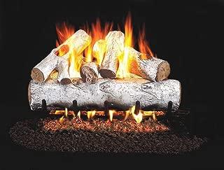 RealFyre White Birch Vented Gas Logs (W-24), 24-Inch