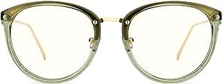 TIJN Blue Light Block Glasses Round Optical Eyewear Non-prescription Eyeglasses Frame for Women