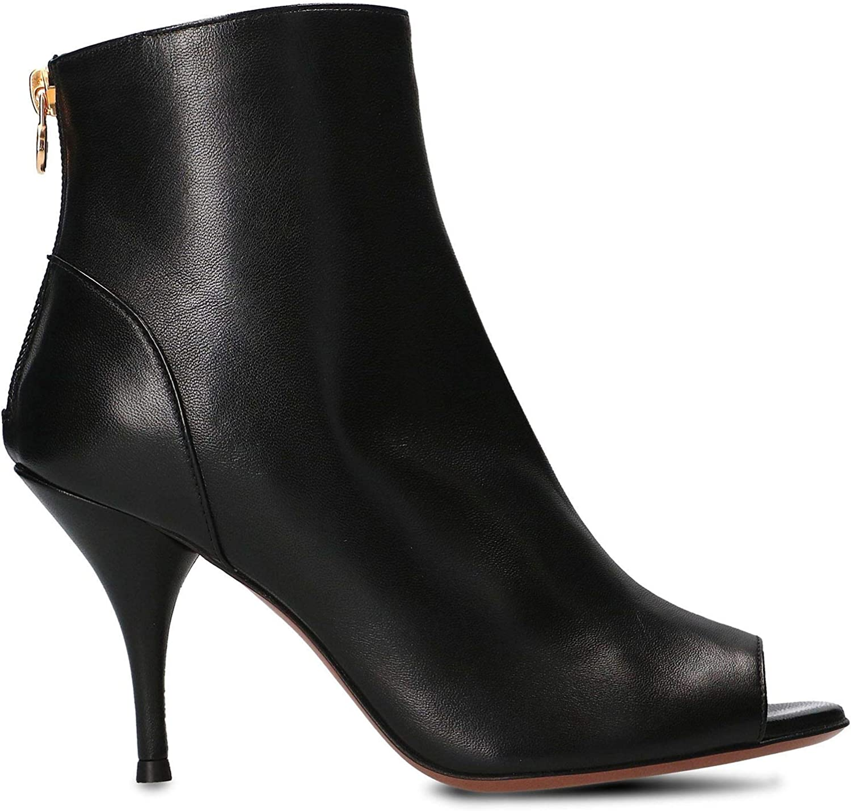 L'Autre Chose Damen LDJ11785CP26151001 Schwarz Leder Stiefeletten