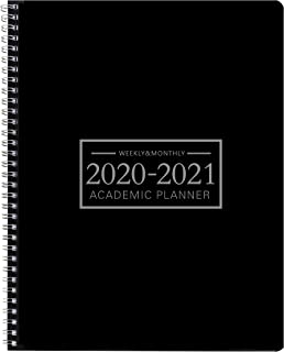 Office Planner 2020-2021 Weekly & Monthly Calendar Planner -9''×11'' Time Management Personal Planner Hard PVC Cover with Spiral Bound