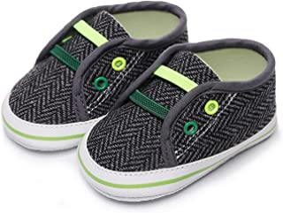 Baby Boy Girl Classical Checkered Shoes Toddler First Walker Newborn Soft Sole Cotton Crib Shoes (Baby Age : 12-18 Months,...