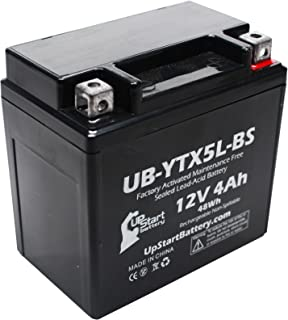 Replacement for 2004 Yamaha YW50A Zuma 50CC Factory Activated, Maintenance Free, Scooter Battery - 12V, 4Ah, UB-YTX5L-BS
