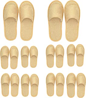 AM ANNA Hotel Slippers Spa Slippers,10 Pairs Disposable House Slippers Perfect for Women and Men for Hotel, Home, Guest, P...