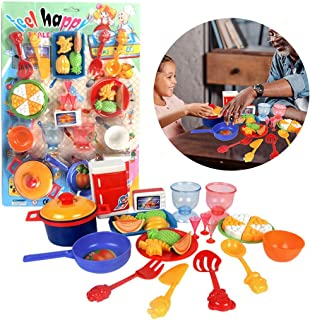 Coxeer 31PCS Kitchen Playing Set Creative Pretend Play Toy Cooking Toy Set for Kids