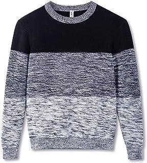 Kid Nation Boys' Crew Neck Sweaters Kids Fashion Gradient Sweatshirt Long Sleeve