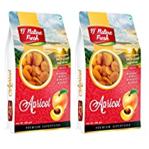 D'nature Fresh Dried Apricot 500g ( Khumani Pack of 2 – 250g Each)