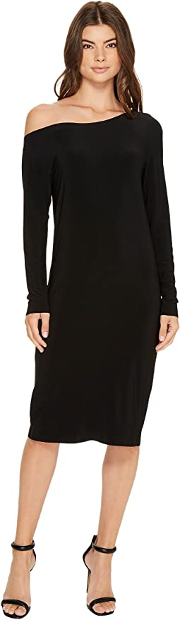 KAMALIKULTURE by Norma Kamali Long Sleeve Drop Shoulder Dress