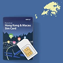 GMYLE Hong Kong and Macau Prepaid SIM Card, 5GB 14 Days 4G LTE 3G Travel Data, Top up Anytime and Anywhere