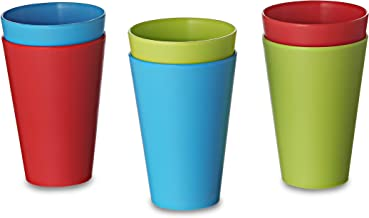 All Time Plastics Glass Set, 300ml, Set of 6, Multicolour