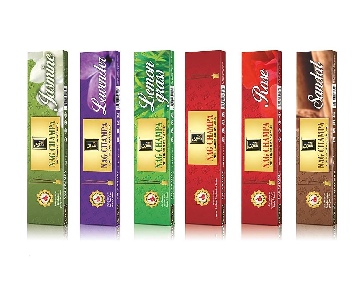 華氏杭ファランクスNagchampaプレミアム天然香料Sticks?–?6のパック( 10?Sticks perボックス)