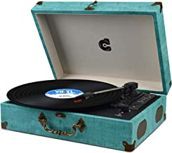 Turntable Record Player Wireless Portable LP Phonograph with Built in Stereo Speakers..