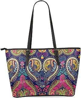 Sugar Skull Women's Leather Tote Shoulder Bags Handbags