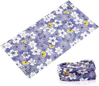 5fc8d557f85 KALILY Floral Headband Bandana - Versatile 16-in-1 Headwear -Neck Gaiter