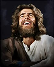 """""""Laughing Jesus"""" by Award Winning, Deb Minnard – Bring Joy to Your Home with This 8x10, Print That Will Last a Lifetime. Great Collectors Item."""