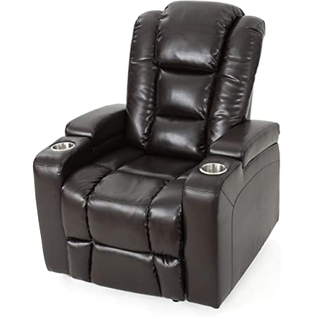 Right2home 1985 178 125 Power Home Theatre Recliner 38 0 L X 39 5 W X 43 0 H Chocolate Brown Furniture Decor